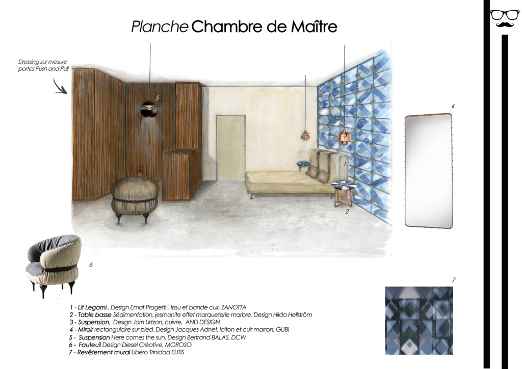 planche perspective shopping chambre dressing