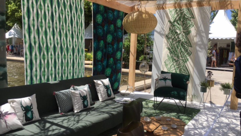 Decoration ete: salon Côté Sud à Aix en Provence